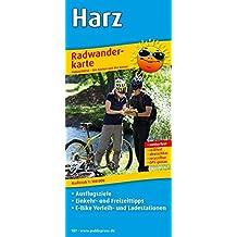 Harz: Radwanderkarte mit Ausflugszielen, Einkehr- & Freizeittipps, E-Bike Verleih- und Ladestationen, wetterfest, reissfest, abwischbar, GPS-genau. 1:100000 (Radkarte/RK)