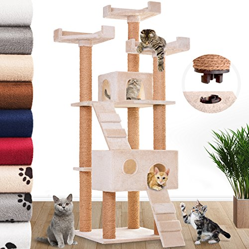 Leopet-Cat-Tree-Scratching-Post-for-Playing-Activity-Centre-Scratcher-Toy-Play-Tower-Climbing-Furniture-with-Caves-and-Houses-in-Different-Colours