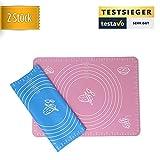 2x Backmatten aus Silikon (blau & pink) 40x30 cm | ofenfest - Geeignet zum Backen im Ofen oder Kochen für jede Küche - macht Öl, Backspray, Backpapier überflüssig von YourMate®