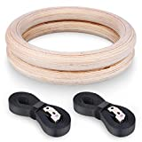 BTSKY™ Professionelle Einstellbare Birch Holz Gymnastik Crossfit Gym Strength Fitness Training Ringe PullUp Freiübungen