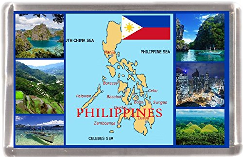 Kühlschrankmagnet Philippinen Landkarte Geschenk Tourist Souvenir