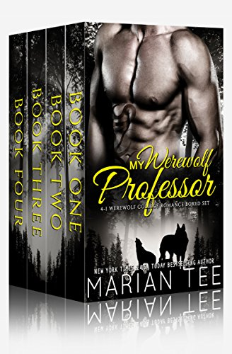 My Werewolf Professor: 4 in 1 Werewolf College Romance Boxed Set (English Edition) Tee-set Boxed