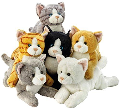 eug, verschiedene liegende Katzen, 34cm (Wenig Anime Boy)