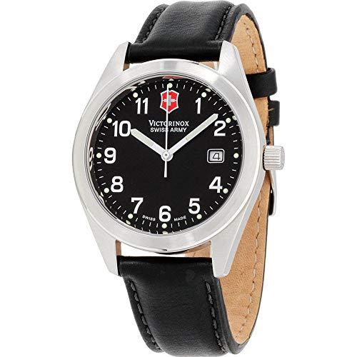 Victorinox Garrison Herren-Armbanduhr 40mm Armband Leder Quarz 241006.CB