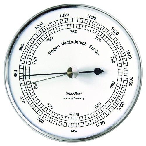 Fischer 528201 Aneroid Barometer Silver