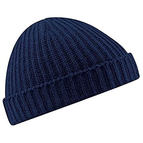 Men and Women Winter Solid Color Striped Flanging Beanie Hat Bonnet Cap Skullies Hats Bobury