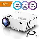 DBPOWER Mini Beamer, +70% Hellerer HD 1080P LED Video Projektor mit...