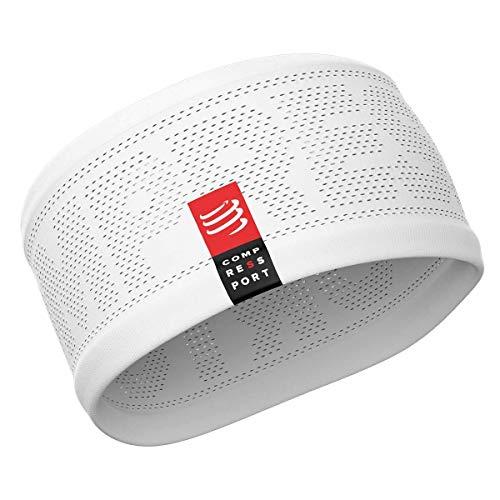 COMPRESSPORT Erwachsene Headband V2 On/Off Lauf Stirnband, Weiß, One Size