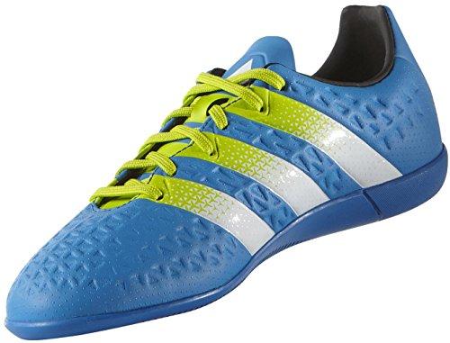adidas Ace 16.3 In J, Chaussures de Football Mixte Bébé Multicolore - Azul / Verde / Blanco (Azuimp / Seliso / Ftwbla)