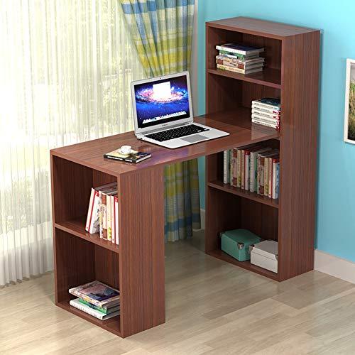 YQ WHJB Schreiben Studie Schreibtisch,computertisch Mit Ablagen,Home Office Turm Computer Schreibtisch 4 Tier-buchregale Kompakt Workstation-c - Wagen Tür-hardware