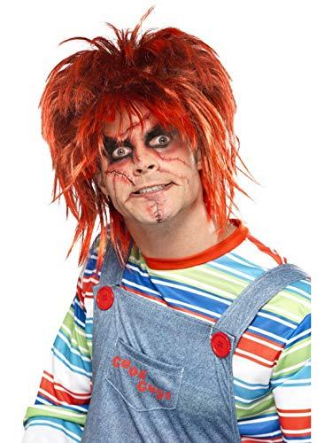 Halloweenia - Kostüm Accessoires Zubehör Chucky Make Up Schminke Set mit Pinsel und Klebetattoos, perfekt für Karneval, Fasching und Fastnacht, Mehrfarbig