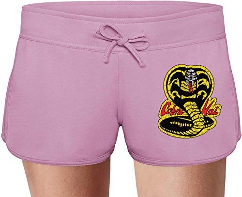 51Nf3ft0i8L - Pantalón rosa de chica Cobra Kai