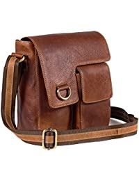 Goatter Leather Brown Messenger Bag…
