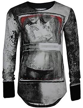 trueprodigy Casual Herren Marken Long Sleeve mit Aufdruck, Oberteil cool und stylisch mit Rundhals (Langarm &...