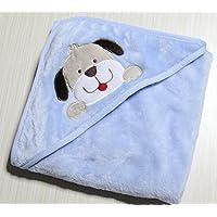Neonato Telo da bagno, con cappuccio a forma di animale flanella coperta per neonati, Super morbido, 0–12mesi, 76,2x 76,2cm