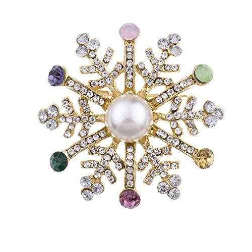 Carry stone Vintage Weihnachten Schneeflocke Brosche Anzug Pins Corsage Kleidung Zubehör Langlebig und nützlich
