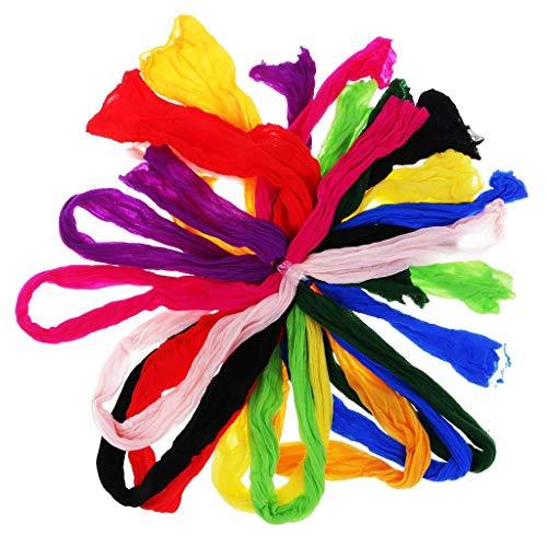 Bsgp confezione da 10 calze multicolore in nylon per fiori artificiali, composizioni artigianali