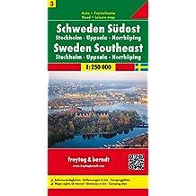 Carte routière : Suède - Sud Est