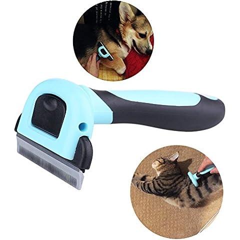 MAIKEHIGH Pet Grooming Deshedding strumento per lo spargimento di Rake Epilazione pettine trimmer Spazzola Rimuovere Spazzola governare per il gatto del cane