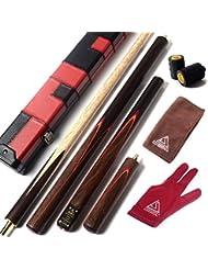 "CUESOUL 57 ""Handwerk 3/4 Gelenkig Palisander Snooker Queue mit extra 50cm Palisander Queue-Verlängerung D415"