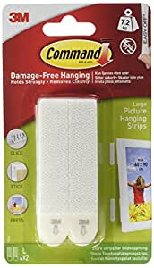 Command Large Picture Hanging Strips, 17206 (1 Pack of 4 Sets)