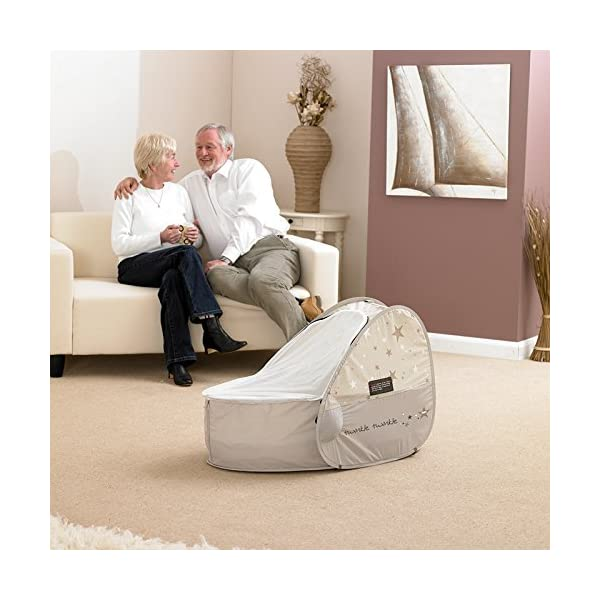 Koo-di 80 x 50 x 58 cm Sun and Sleep Pop Up Travel Bassinette  A comfortable bassinette ideal for use at home and on holidays or weekends away A polycotton travel bassinette Ideal up to 6 months or until baby can sit unaided 7