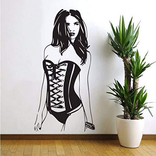 Schnitzen Sexy Frau Pin Up Girl Wandtattoo Kunst Wohnkultur Aufkleber Verführerisch Sinnliche Wohnzimmer Wandaufkleber 45X92 Cm ()