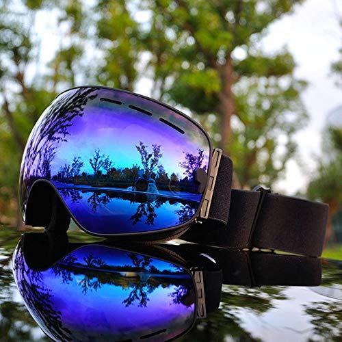 SAOJI Marca Ski Goggles Full Mirror UV400 Anti-Fog Maschera da Sci Grande Occhiali Sci Uomo Donna Snowboard Occhiali 3 Lenti, SGP2
