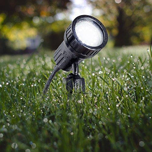 B.K.Licht LED Gartenstrahler inkl. 3W GU10, Erdspiess, Wegbeleuchtung, Rasenlicht, Gartenleuchte, Gartenbeleuchtung, Gartenlicht, Gartenspiess, Gartenlampe schwenkbar IP44 - 6