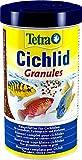 Tetra Cichlid Granules Aliment Complet pour cichlidés de Taille Moyenne Poissons eau douce tropicale, 500ml