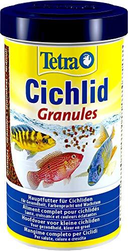 Tetra Cichlid Granules, Hauptfutter Mix für mittelgroße Cichliden, 2 verschiedene Granulate, 500 ml Dose -