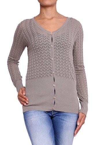 ANTA Q'ULQI - Cardigan a maglia per donna - beige, XL