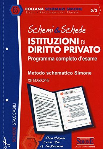 Schemi & schede di istituzioni di diritto privato. Programma completo d'esame