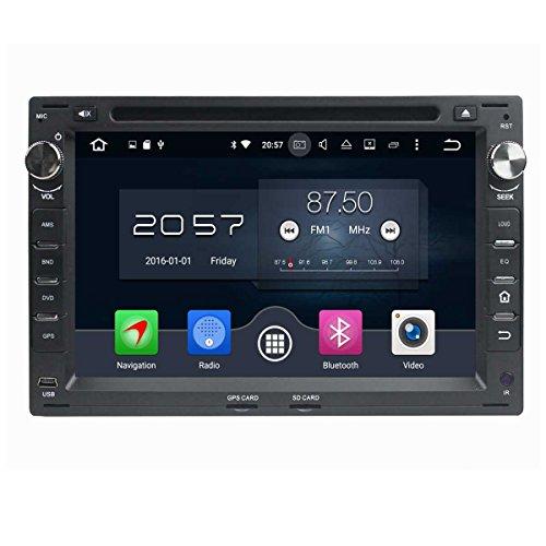 (Negro) 7 pulgadas Coche Radio con GPS Quad Core Android 6.0 para Volkswagen/VW Passat B5(1999-2005)/Golf 4(1999-2005)/Polo(1999-2005)/Bora(1999-2005)/Jetta(1999-2005)/Sharan(1999-2005)/T5(1999-2005)/Citi(2004-2009)/MK3(2000-2009)/MK4(2000-2009)/Golf(2004-2005),DAB+ radio