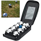 Set of 8 Steel French Boules Garden Game Set