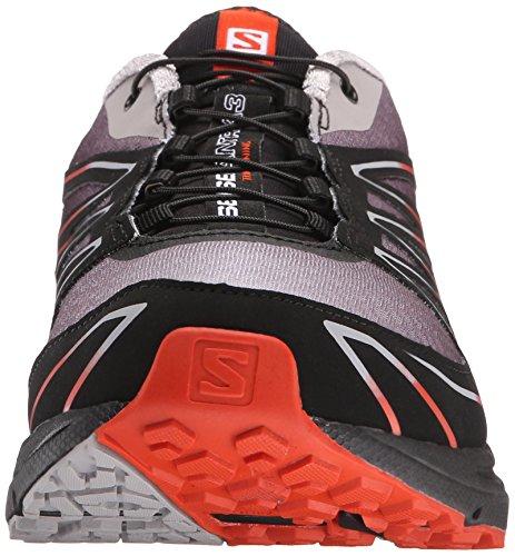 Salomon Sense Mantra 3, Chaussures de Running Compétition Homme Multicolore (Aluminium/Black/Solar Orange)