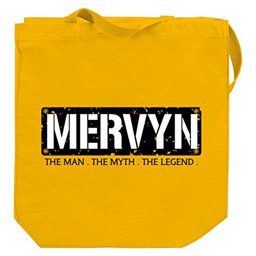 idakoos-mervyn-the-man-the-myth-the-legend-male-names-canvas-tote-bag