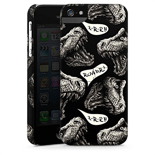 Apple iPhone X Silikon Hülle Case Schutzhülle Dinosaurier Dino T-Rex Premium Case StandUp