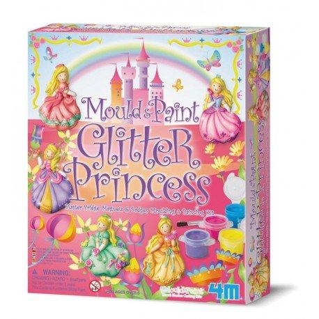 4M - Kit de moulage Badges et Magnets Princesses - jeux de loisirs créatifs pour filles 5 ans