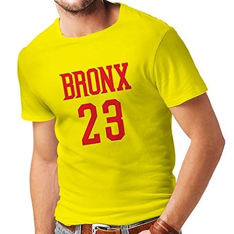 T-shirt pour hommes Bronx 23 - Mode style rue (Medium Jaune Rouge)