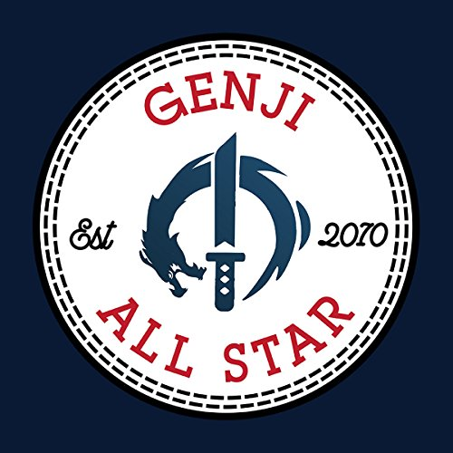 Genji Overwatch All Star Converse Women's Vest Navy blue
