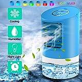 Refroidisseur d'air | Mini climatiseur | Climatiseur portable 3 en 1 | 3 Vitesses | 7...