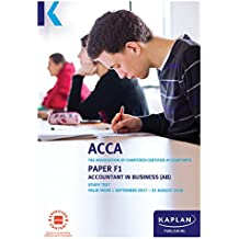ACCA Complete Text - F1 Accountant in Business AB (English Edition)