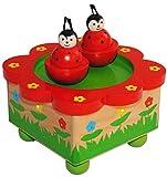 Unbekannt magisch drehende Spieluhr -  Marienkäfer  - aus Holz - Musikspieluhr - Musik - Glückskäfer / Käfer - drehende Musikbox - für Kinder & Baby / Spieldose für K..