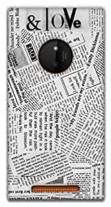 The Racoon Lean Good News hard plastic printed back case / cover for Nokia Lumia 830