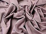 Baumwolle, uni Voile Kleid Stoff mauve–Meterware