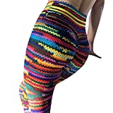 Hibote Damen High Waist Leggings Gestreift Jogginghose - Frauen Leggins Digital Drucken Yoga Hose Push Up Fitnesshose Sporthose Gymnastic Hosen Tights Atmungsaktiv Schweißabsorbierend