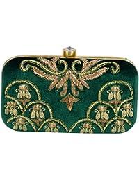 Tooba Women's Zardosi Work Box Clutch…