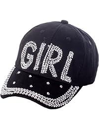 Damen Uni Basecap mit Strass Baseball Cap Mütze Kappe Love Girl
