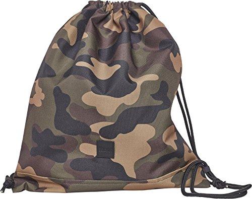 Urban Classics Gym Bag Turnbeutel, 43 cm, Wood Camo